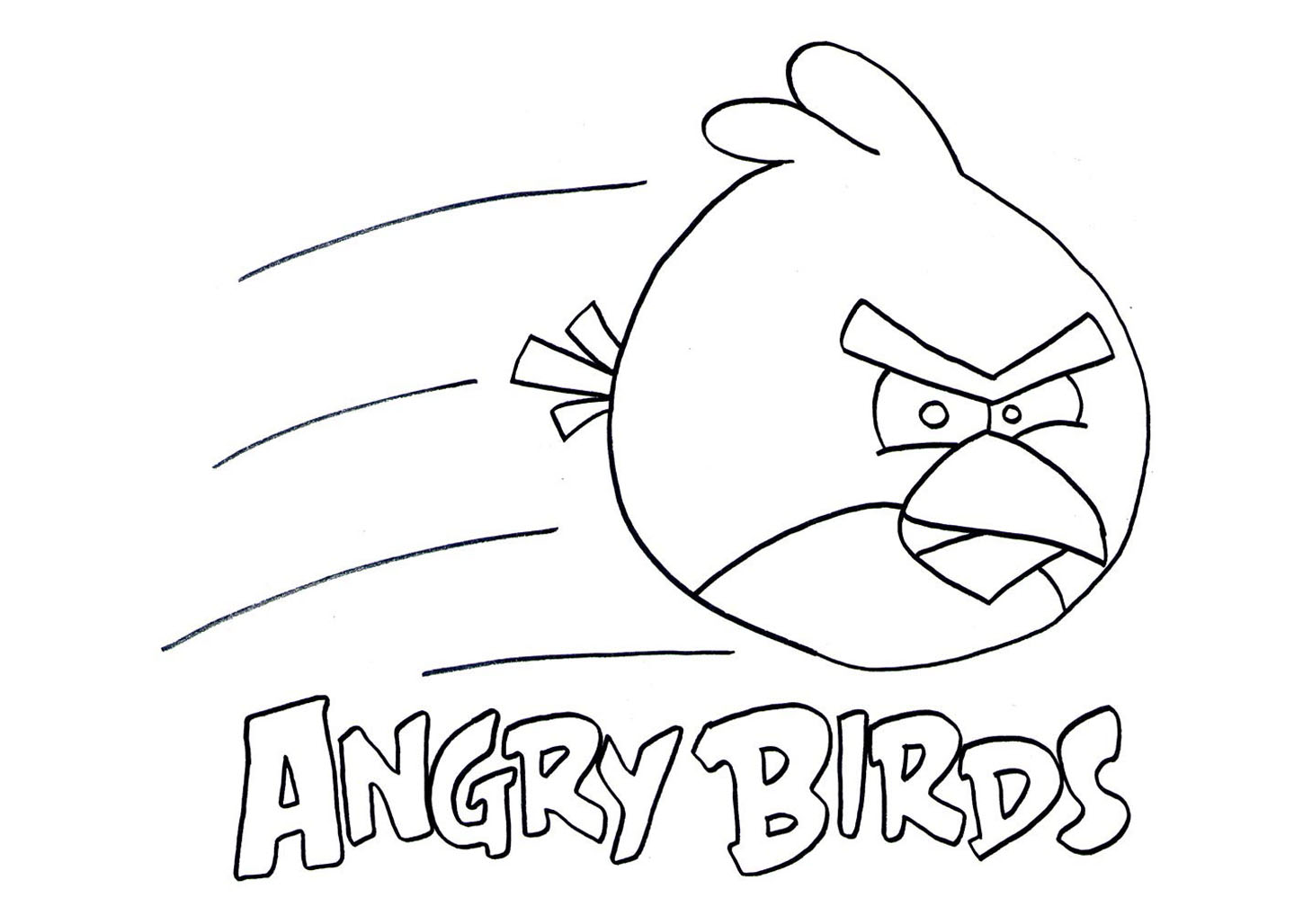 Angry birds coloring pages coloriage angry birds coloriages pour enfants - Coloriage angry birds ...