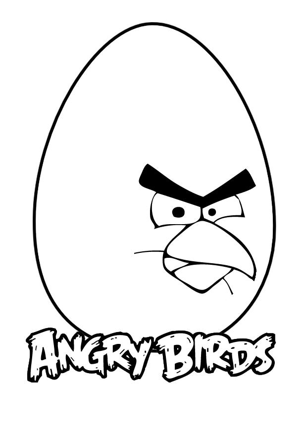 Dessin Angry Birds à colorier