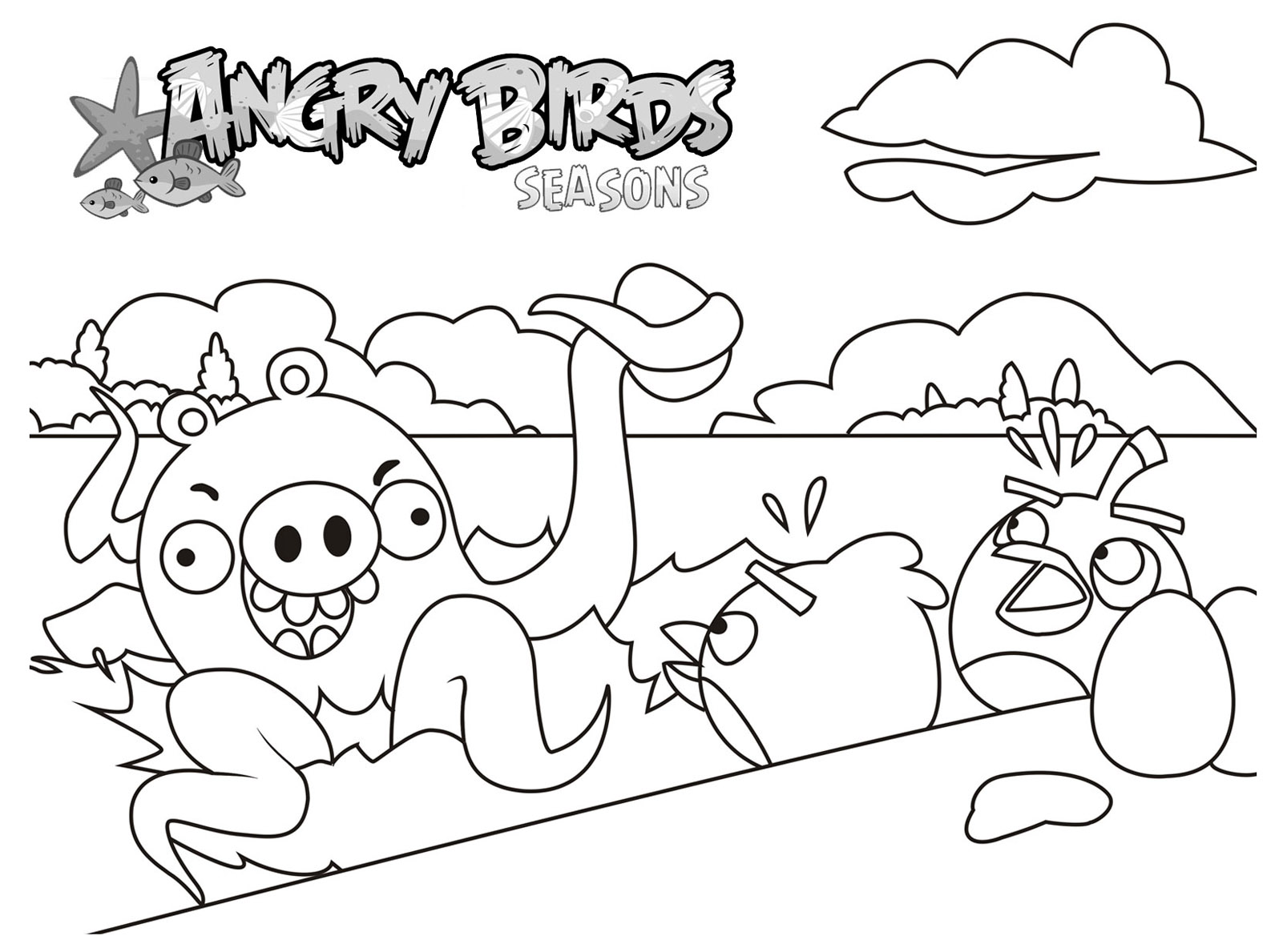 Angry birds 7 coloriage angry birds coloriages pour - Angry bird coloriage ...