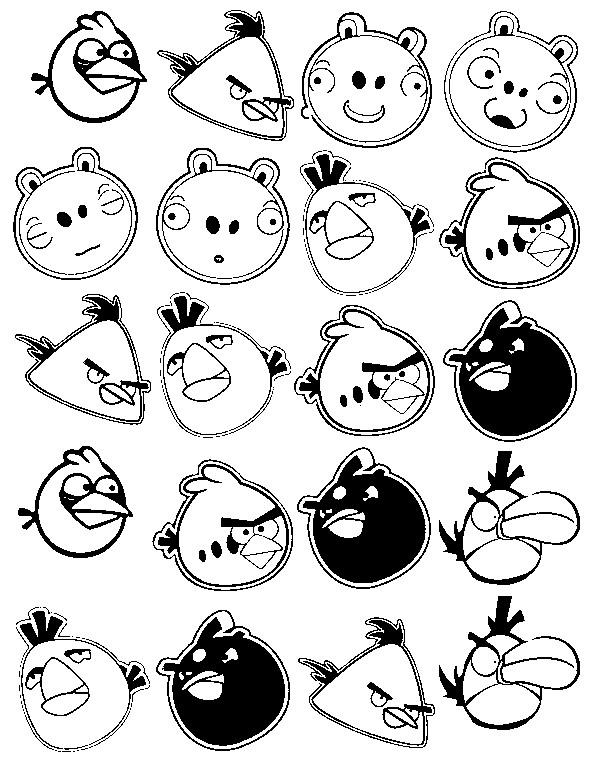 Ausmalbilder Angry Birds 11: Coloriage Angry Birds