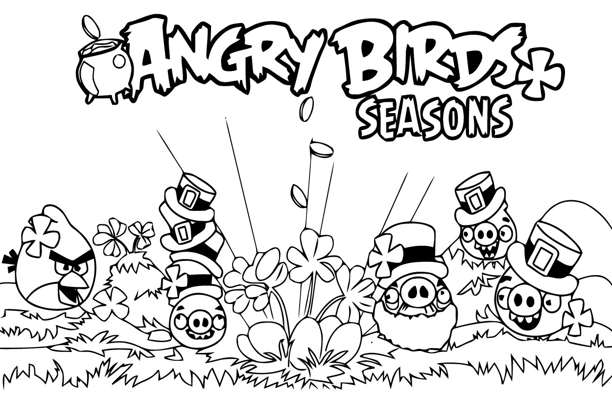 Coloriages angry birds 5   Coloriage Angry birds   Coloriages pour