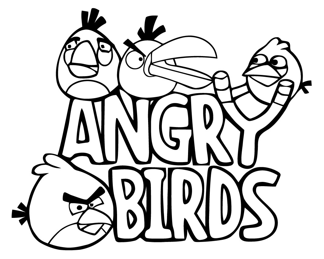 Extrêmement Coloriages angry birds 6 | Coloriage Angry birds - Coloriages pour  RY72