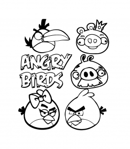 Coloriage angry birds 10