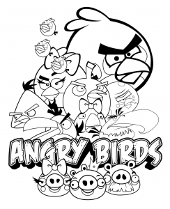 Coloriage angry birds 11