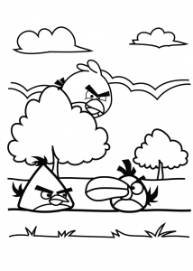 Coloriage angry birds coloriages pour enfants - Dessin a colorier angry bird ...