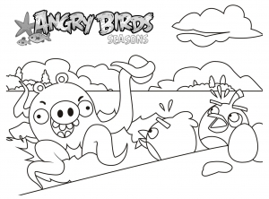 Coloriage angry birds 7