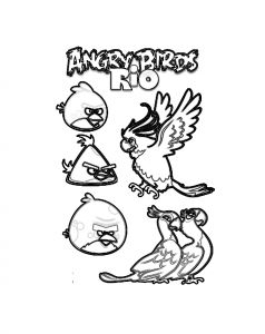 Coloriage angry birds 8