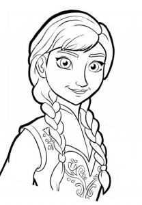 coloriage-la-reine-des-neiges-anna-4 free to print