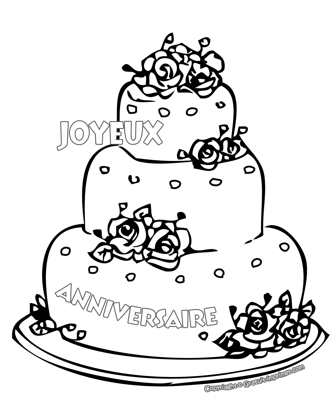 anniversaire 6 coloriage anniversaire coloriages pour. Black Bedroom Furniture Sets. Home Design Ideas