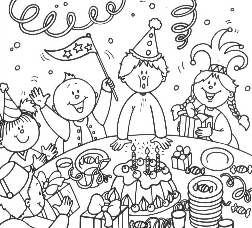 coloriage anniversaire 7 free to print