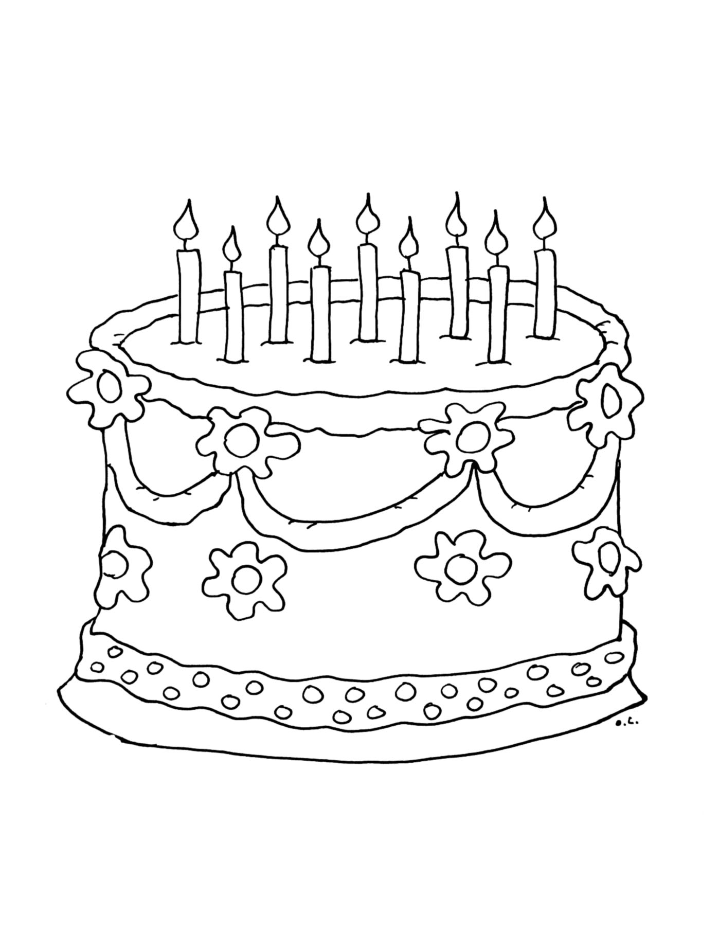 gateau anniversaire coloriage anniversaire coloriages. Black Bedroom Furniture Sets. Home Design Ideas