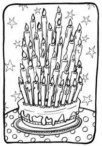 Coloriage anniversaire 1