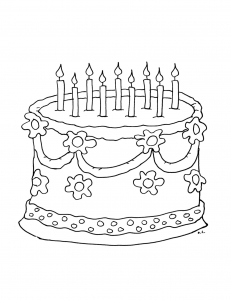 coloriage-gateau-anniversaire free to print