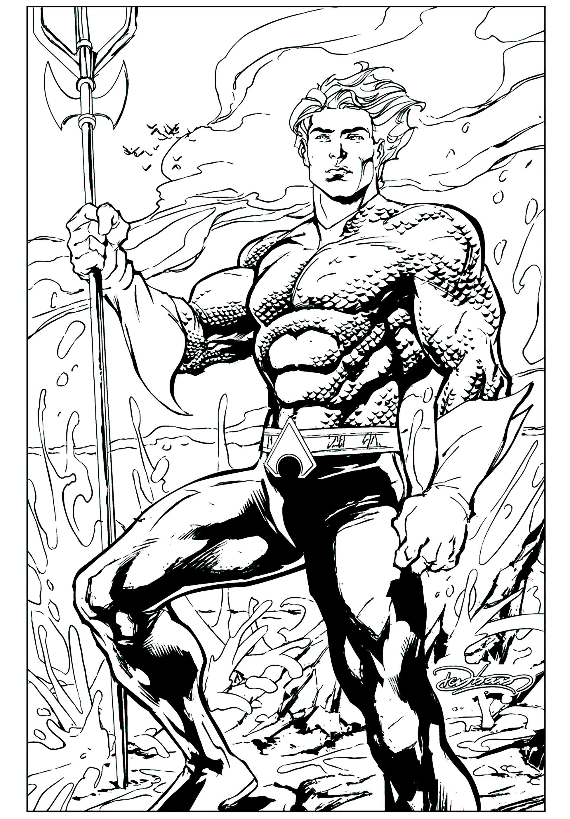 Image De Aquaman A Imprimer Et Colorier Coloriage Aquaman