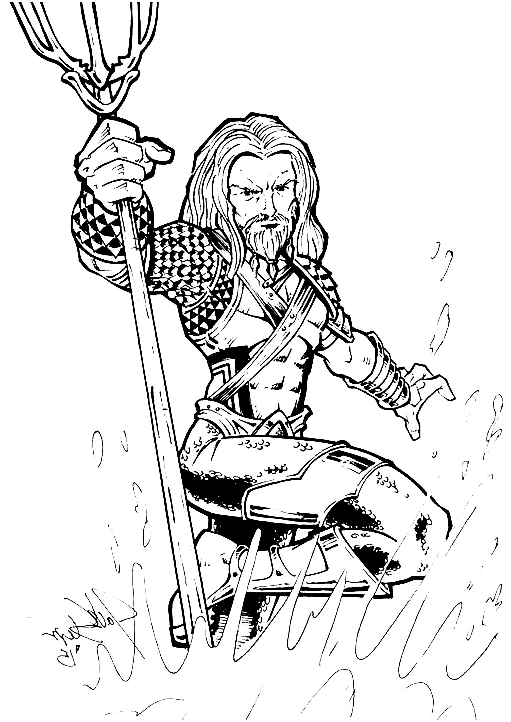 Aquaman Coloring Pages Best Of Awesome Aquaman Coloring Pages Picture Collection Coloring Paper Coloriage Aquaman Coloriages Pour Enfants