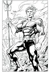 Image de Aquaman à imprimer et colorier