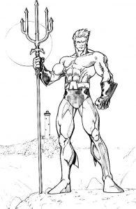 Coloriage de Aquaman gratuit à colorier