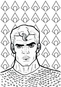 Coloriage aquaman 13