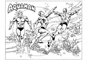 Coloriage de Aquaman pour enfants