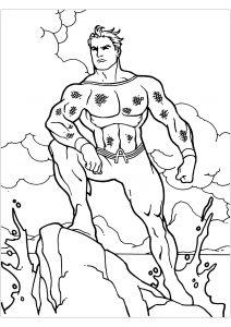 Dessin de Aquaman gratuit à télécharger et colorier