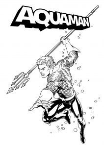 Coloriage de Aquaman à telecharger gratuitement