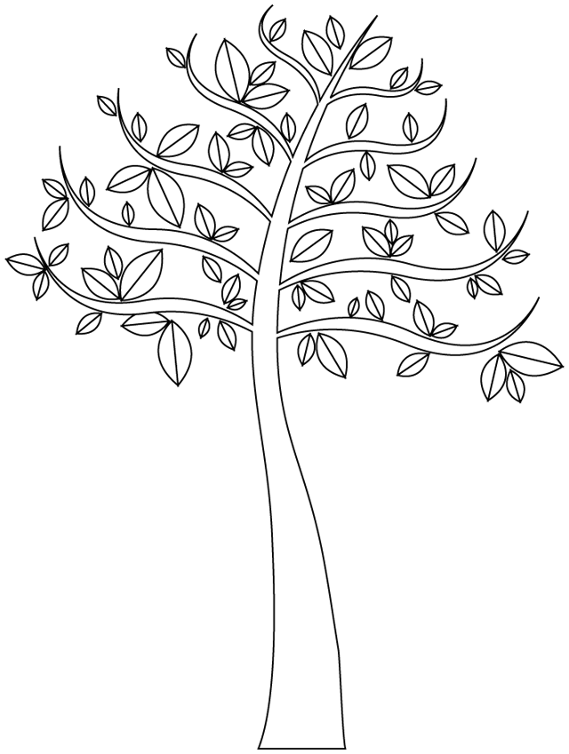 coloriage arbre 2 coloriage d 39 arbres coloriages pour enfants. Black Bedroom Furniture Sets. Home Design Ideas