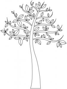 Arbre avec quelques feuilles