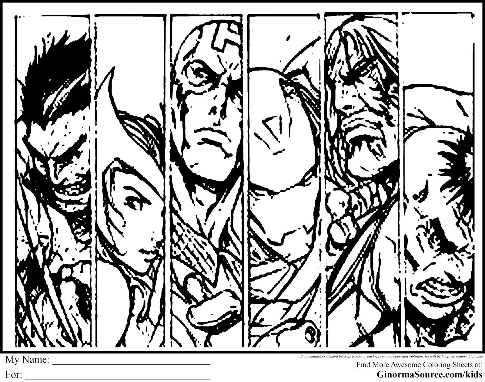 Frais Dessin A Colorier A Imprimer Avengers