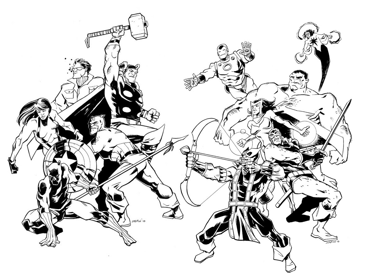 Comics avengers 11 coloriage avengers coloriages pour enfants - Dessin super heros marvel ...