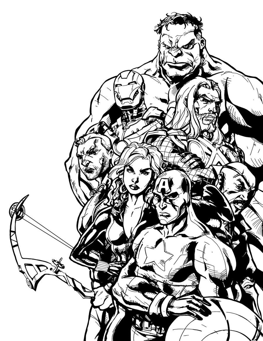 Image De Avengers A Telecharger Et Colorier Coloriage Avengers