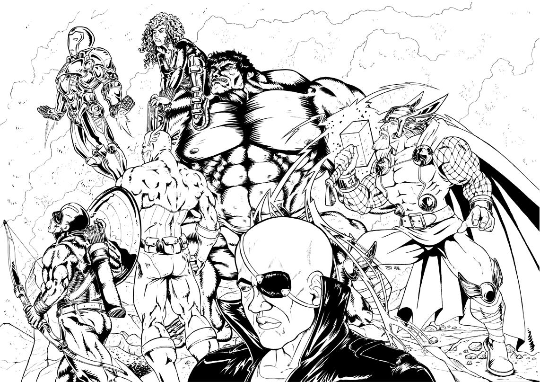 Coloriage des Avengers à imprimer
