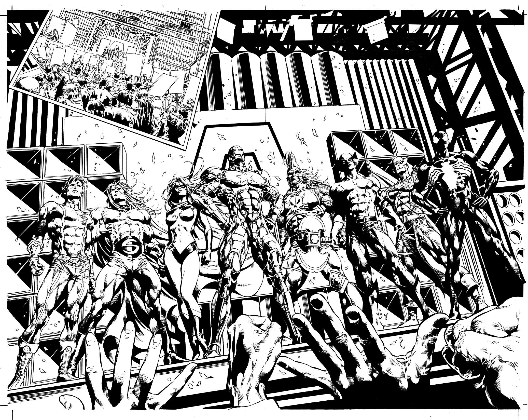 Coloriage des Avengers à imprimer et colorier