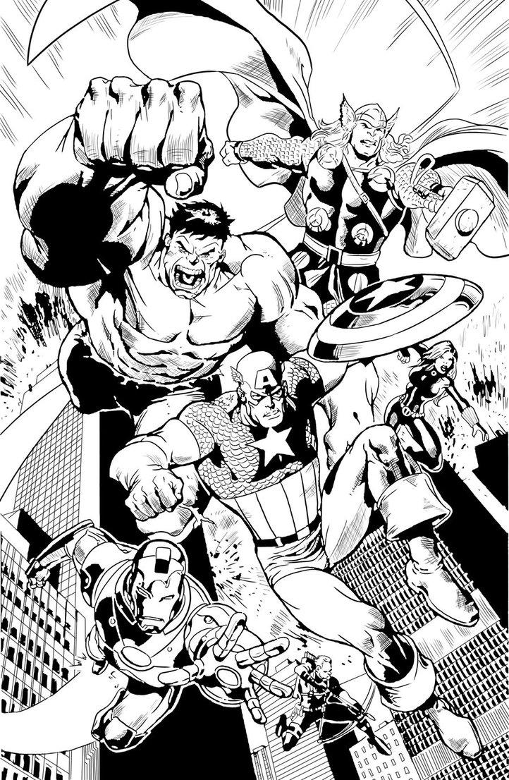 Les Avengers à colorier