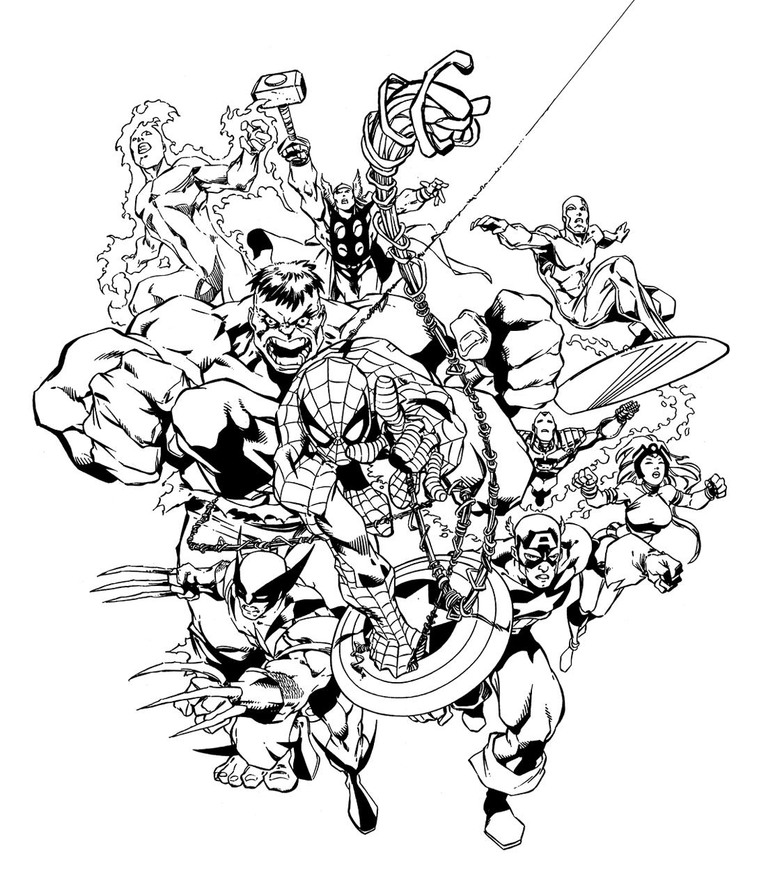 Comics avengers 9 coloriage avengers coloriages pour enfants - Comics dessin ...