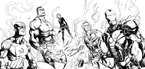Coloriage comics avengers 10