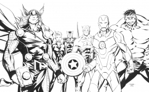 Coloriage comics avengers 14