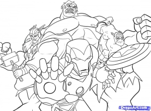 Coloriage comics avengers 3