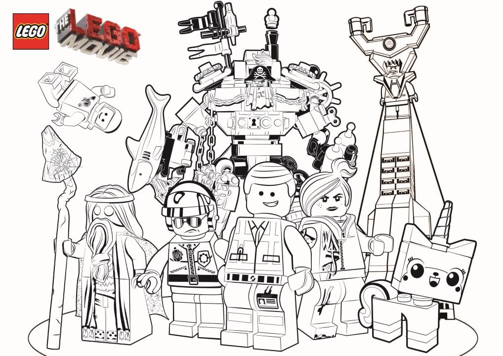 Tous les personnages de La grande aventure Lego à colorier