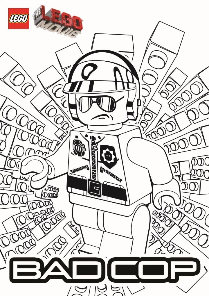 Image de Bad Cop (La grande aventure Lego) à colorier