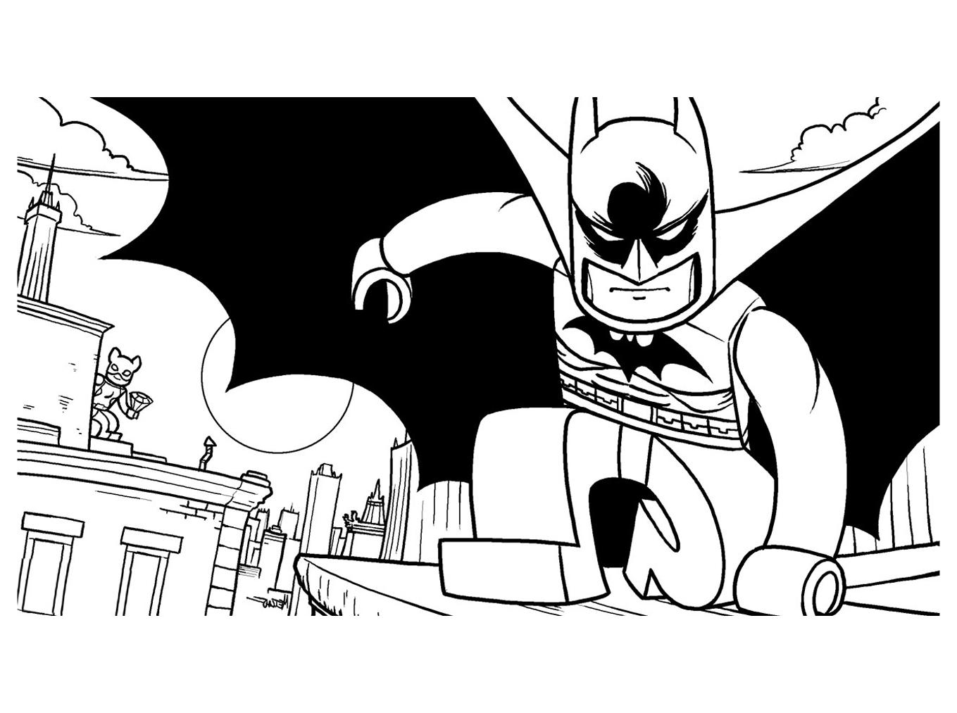 coloriage lego batman1 free to print