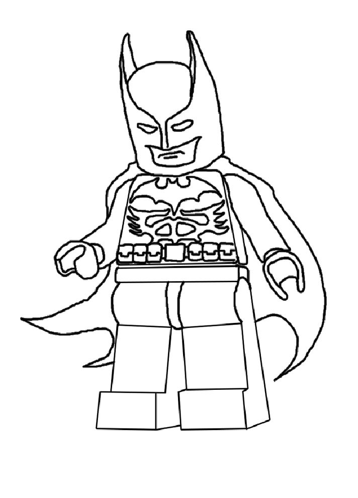 Coloriage Lego Batman Cape au vent