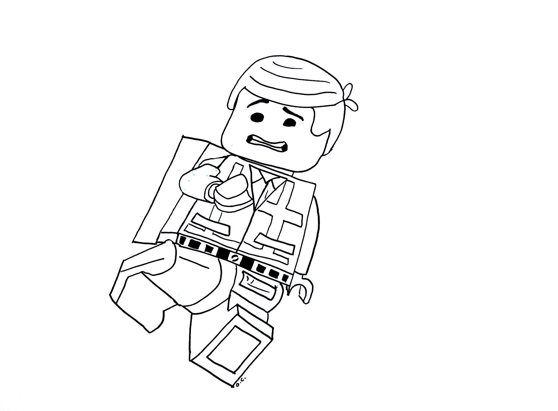 Coloriage du héro de La grande aventure LEGO
