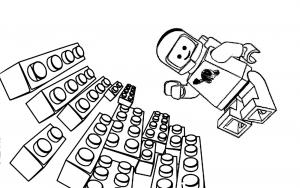 Coloriage aventure lego astronaute