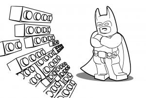 Coloriage aventure lego batman briques