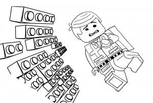 Coloriage aventure lego emmet briques