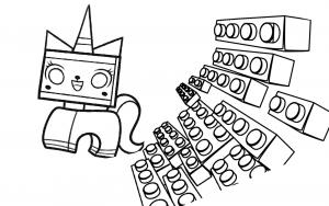 Coloriage de La Grande aventure Lego à imprimer gratuitement