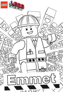 Coloriage de La Grande aventure Lego gratuit à colorier