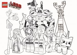 Coloriage de La Grande aventure Lego à telecharger gratuitement