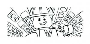 Coloriage lego film emmet