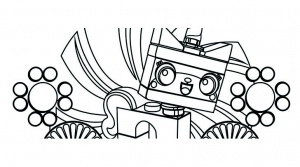 Coloriage lego film unikitty